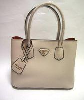 Elegancka damska torba torebka w kolorze ecru Prada