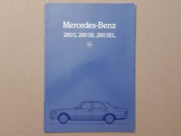 Prospekt - MERCEDES S-KLASSE W126 280 S SE SEL - 1984 r