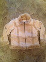 Куртка дубленка NEXT для девочки 7-8лет,рост 128 оригинал