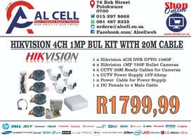 HIKVISION 4CH 1MP BUL KIT WITH 20M CABLE