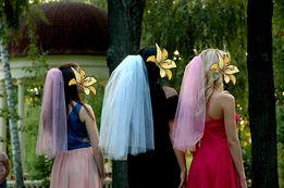 Фаты цветные для ярких девичников и годовщин свадеб