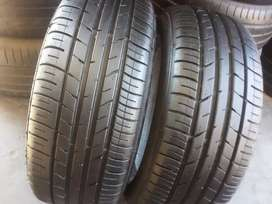 2×195/55/15 DUNLOP tyres for sale it's available now