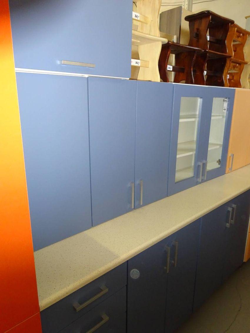Krásná modrá moderní kuchyň MDF 0