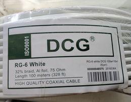Кабель DCG RG-6 White 100м
