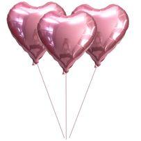 Balon Walentynki Serce Różowe Okrągły Wózek 18stke 14 lutego