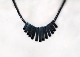 Черное ожерелье колье украшение