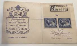 FDI 1948 Commemorating the silver wedding of the King and Queen