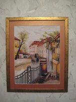 Картина вышивка крестиком Старая Прага