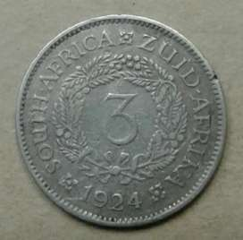 1924 S.A silver tickey (harder date)