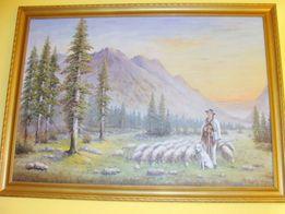Ładny Obraz malowany na płótnie 72x100