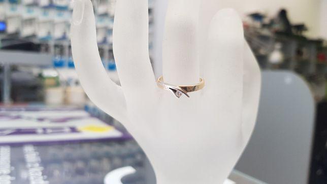 Piękny złoty pierścionek/ 585/ 2,19 gram/ R16/ sklep Gdynia/ Gdynia - image 7