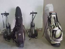 Golf Clubs, Stand bags and Pull trolley for sale