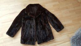 Piękna krótka kurtka z norek futro krótkie norki brazowe idealny stan