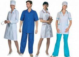 Пошив медицинской одежды и халатов.