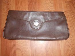 Клатч натуральная перчаточная кожа мягкая и приятная на ощупь, ремешк