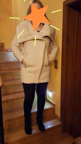 Ekskluzywna Kurtka płaszcz futerko Monnari futro płaszczyk kolor ecru Piekary Śląskie - image 1