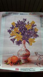 Алмазная вышивка ваза с цветами