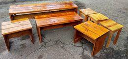 Набор мебели из натурального дерева