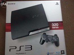 Sony PS3 slim 160Gb (320Gb) прошитая + 15 игр