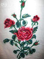 Вышитый рушник ручной работы Розы