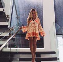 For Love Lemons sukienka L jedwab USA asos zara dutti erdem hm h&m