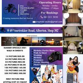 Walk in photography studio for all