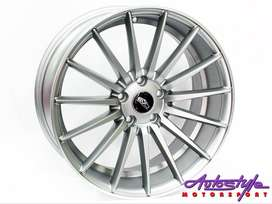 18 inch Evo 5 112 Matt grey Alloy Wheels also suitable for Audi A