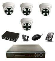 Zestaw Kamer IP 4MPX POE + rejestrator+ dysk + swith -Podgląd ONLINE