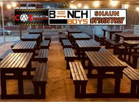 Pub and restaurant benches