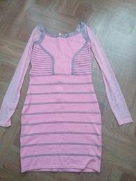 Платье розовое XS