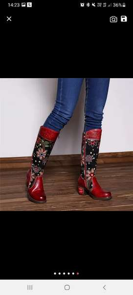 Socofy Red boots