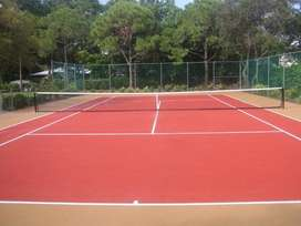 tennis courts Repairs and resurfacing and combo courts