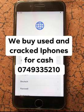 We buy used  and damaged Iphones for cash