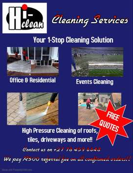 Hi-Clean Cleaning Services R500 offer!