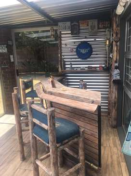 Bar and Chairs for sale.