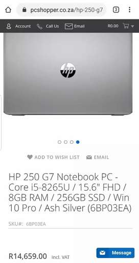 NEW HP 250 G7 INTEL CORE I5 8TH GENERATION HIGH SPEC