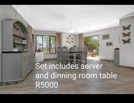 Dinning room table and server
