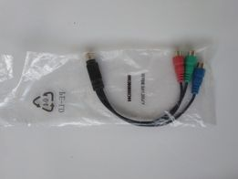 Кабель-переходник 7pin mini-DIN(M) to 3RCA(F) тюльпан