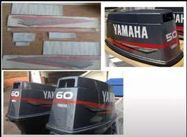 Yamaha 2 stroke outboard motor stickers decals kits