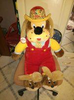 Мягкая игрушка собака в шапке
