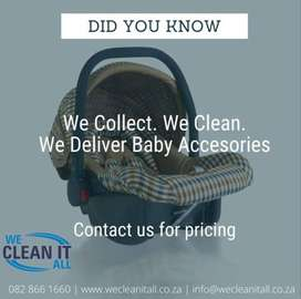 Baby car seat cleaning