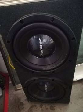 Pioneer subs and audiobank amp
