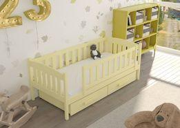 Drewniane łóżko dziecięce Beti w kolorach i wzorach. Wys. 7 dni!
