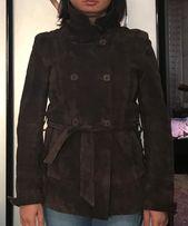 Кожаная куртка, размер S, цвет - темный шоколад