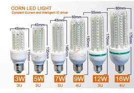 LED Light Bulbs: Energy Savers with Glass Cover Brand New Products