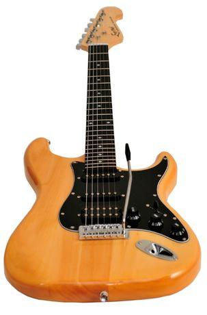 Gitara elektryczna EVER PLAY ST-2, SSH, natural OKAZJA cenowa GRATIS!! Rybnik - image 5