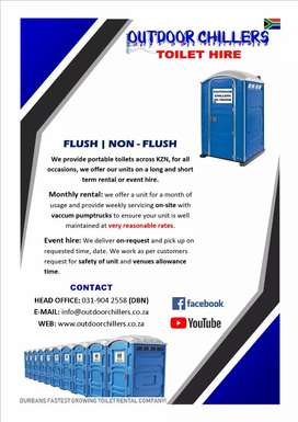 Toilet hire, outdoor toilet hire, porta loo, mobile toilets, trailer