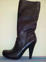 Сапоги женские черные осенние новые, 40 размер, 26 см