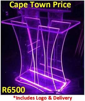 LED Big Perspex Butterfly Podium