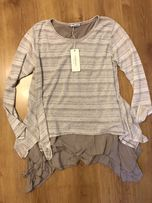 Włoska bluzka dwuwarstwowa sweter r. M/L